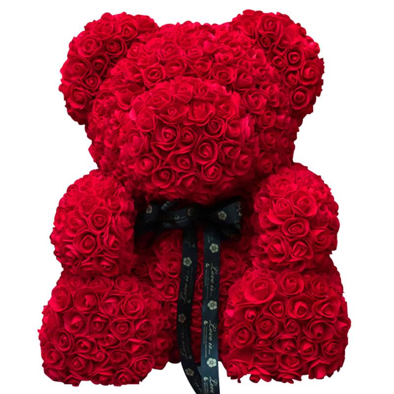 玫瑰花熊-1314朵亚博体育官方通道香皂花