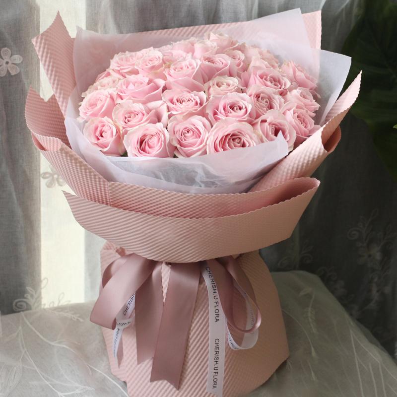 遇见你-33支精品粉玫瑰