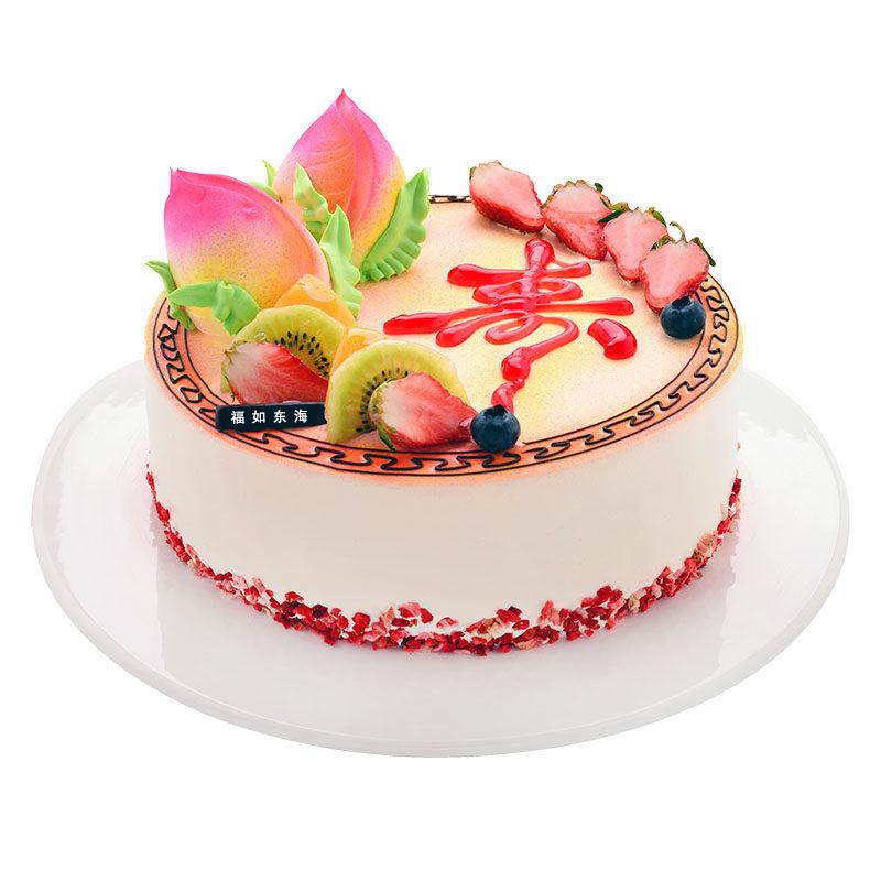 福如东海-鲜奶圆形蛋糕