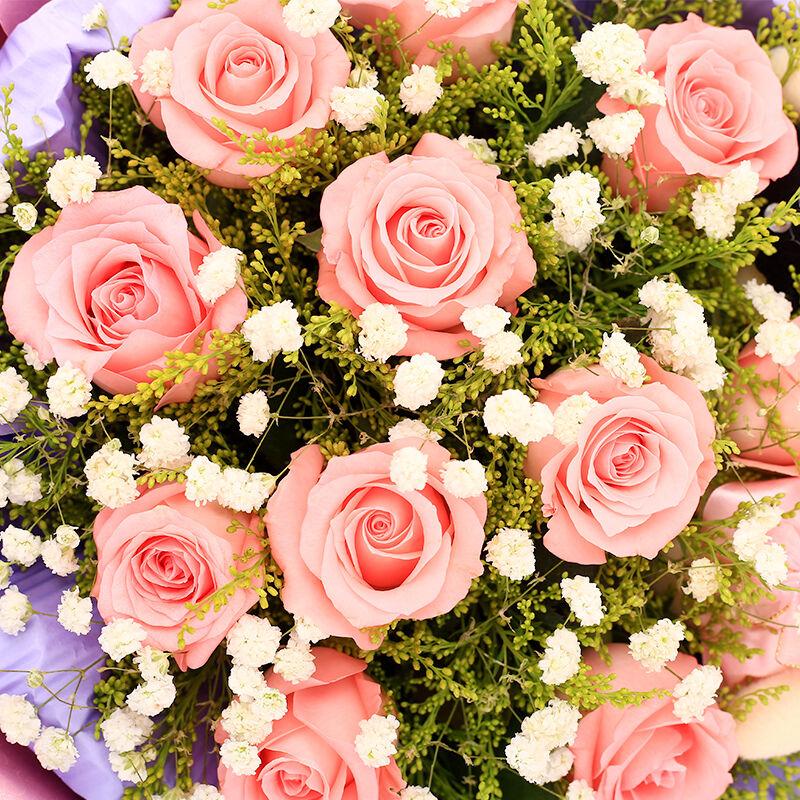 致美丽的你-11支精品粉玫瑰