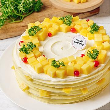 新鲜芒果千层蛋糕