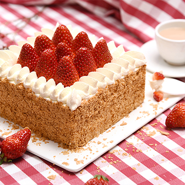 草莓拿破仑蛋糕