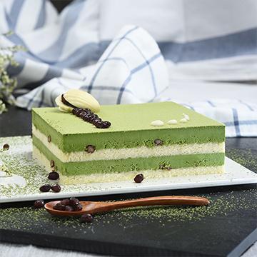 方形抹茶慕斯蛋糕