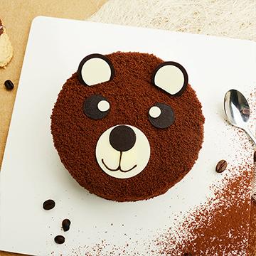 小熊奶油巧克力蛋糕