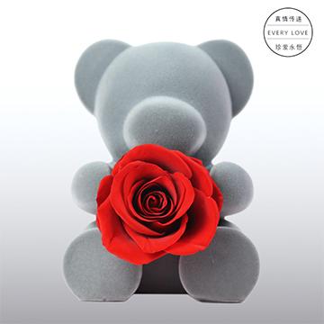 永生花玫瑰小熊-坐熊款