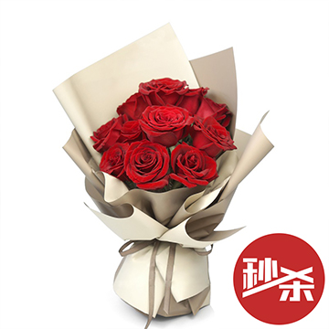 花开无声-11支精品红玫瑰