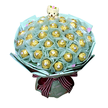 魂牵梦萦-33颗费列罗巧克力花束