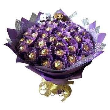 花成蜜就-33颗费列罗巧克力花束