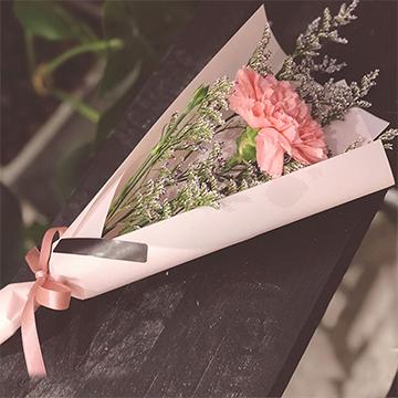 慈爱目光-单支粉色康乃馨(30支起送)