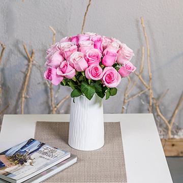 慢生活-19支亚博体育官方通道粉玫瑰