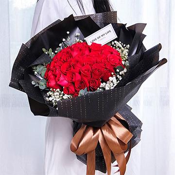 为爱疯狂-33支精品红玫瑰