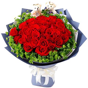 相知相愛-33支精品紅玫瑰
