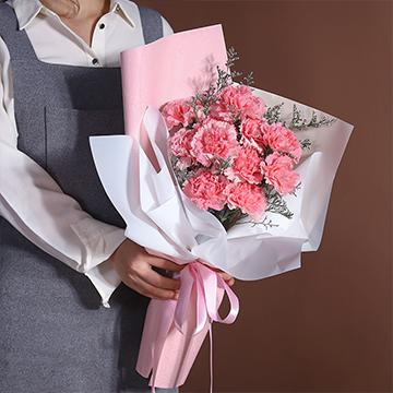 感激的心-11支精品粉色康乃馨