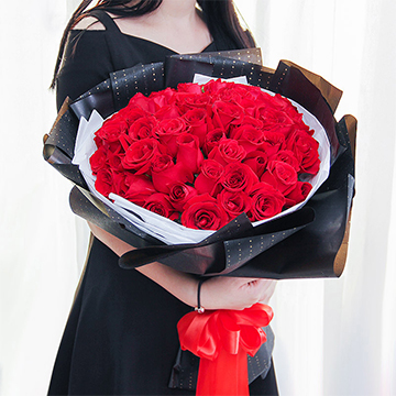 美丽的遇见-33支精品红玫瑰
