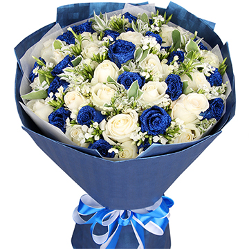 蓝色天使-33支亚博国际电游app混色玫瑰