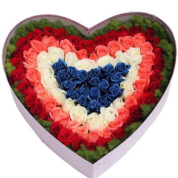 恋爱的感觉-99支亚博体育官方通道混色玫瑰