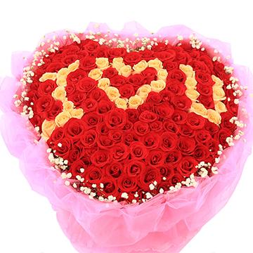 热情的爱-99支亚博国际电游app混色玫瑰