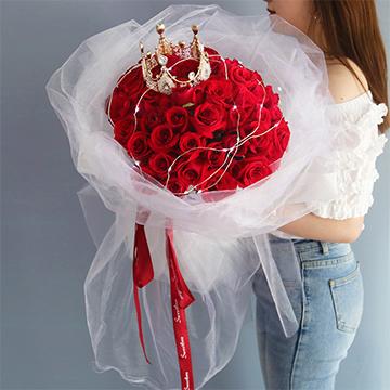 真的爱你-33支精品红玫瑰