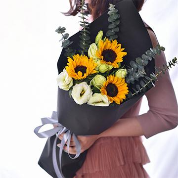 心若向阳-3支精品向日葵