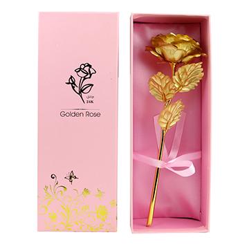 永不凋谢的玫瑰-1支亚博体育官方通道金箔玫瑰