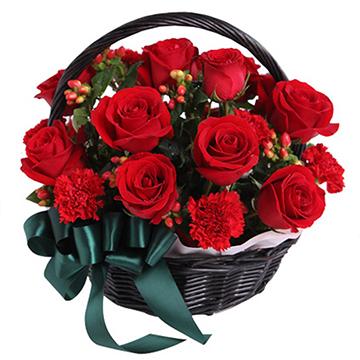 会长大的幸福-12支亚博国际电游app红玫瑰+8支康乃馨