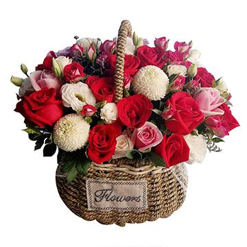 甜蜜-25支亚博体育官方通道混色玫瑰