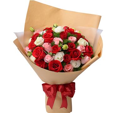 春天里-33支精品混色玫瑰