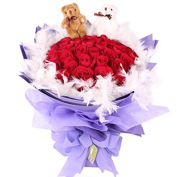 紫爱你-33支精品红玫瑰