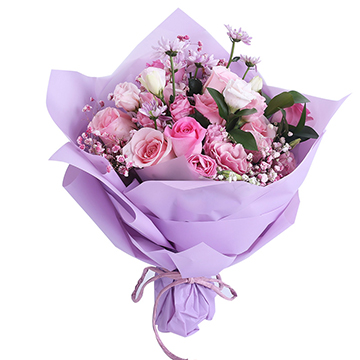 芳华年月-11支亚博体育官方通道粉玫瑰