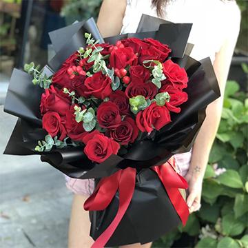 对你有感觉-19支精品红玫瑰