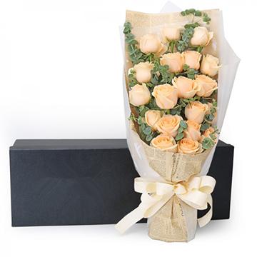 相守一生-19支亚博体育官方通道香槟玫瑰