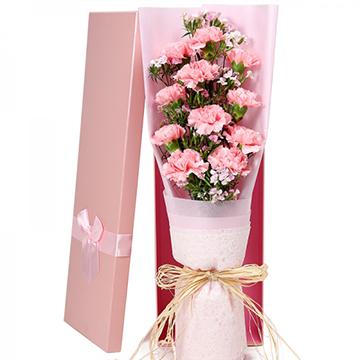 无声的爱-11支亚博体育官方通道粉色康乃馨