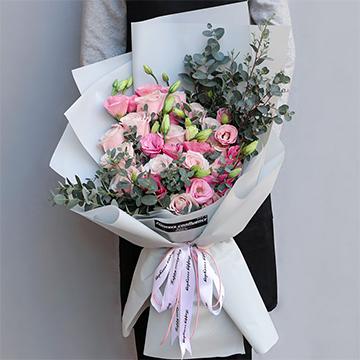 阳光心情-11支精品粉玫瑰