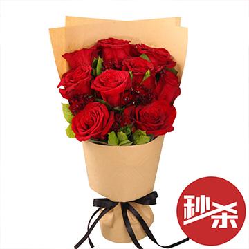 挚爱如火-9支亚博体育官方通道红玫瑰