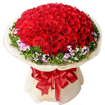 爱情久久-99支精品红玫瑰
