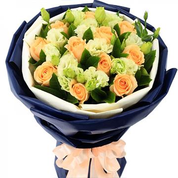 清风雅韵-11支精品香槟玫瑰