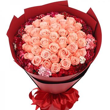 今生挚爱-33支亚博国际电游app粉玫瑰