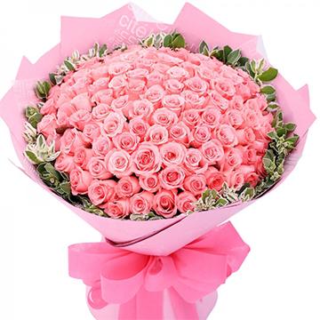 一生最爱-99支精品粉玫瑰