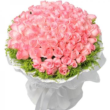满满的爱-52支亚博体育官方通道粉玫瑰