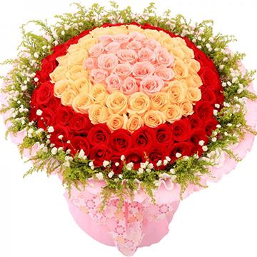 天生一对-99支亚博体育官方通道混色玫瑰