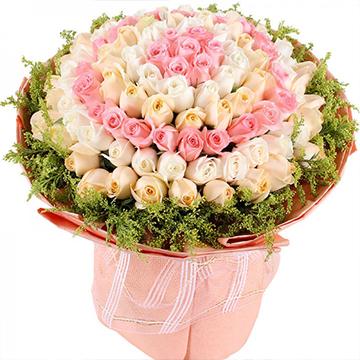 爱丽丝梦境-99支亚博体育官方通道混色玫瑰