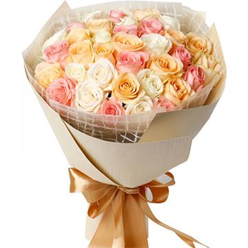 爱的梦想-33支精品混色玫瑰