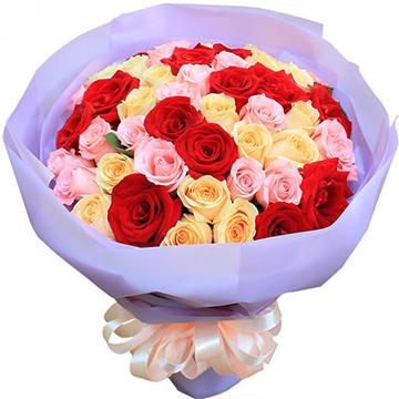 魔幻天堂-33支精品混色玫瑰