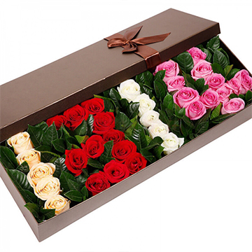 爱的絮语-33支精品混色玫瑰