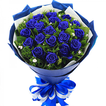 蓝色经典-19支精品蓝色妖姬