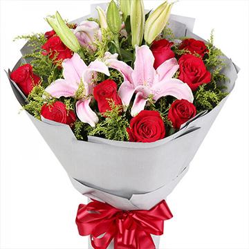 轻声的问候-11支红玫瑰+2支多头粉...