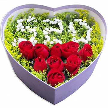 520我爱你-9支精品红玫瑰