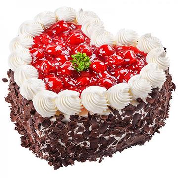 浓情-爱心形奶油蛋糕