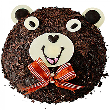 泰迪熊-新鲜奶油圆形蛋糕