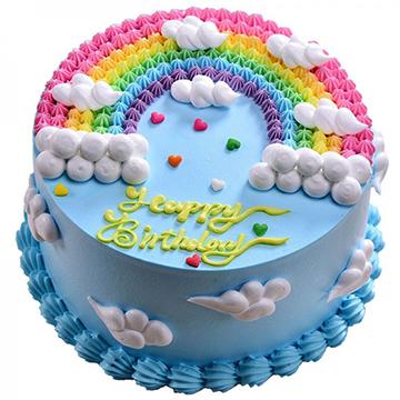 彩虹之家-新鲜奶油圆形蛋糕